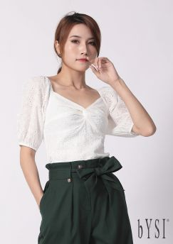 Twisted Knot Bib Cropped Top
