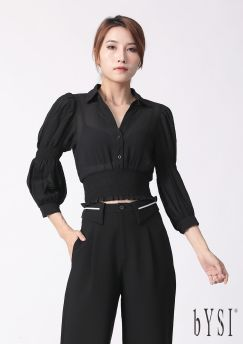 Structured Fold Over Pants