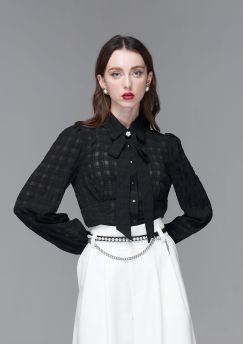 French Style Bow Tie Shirt