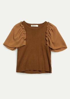 Butterfly Sleeves Knit Top